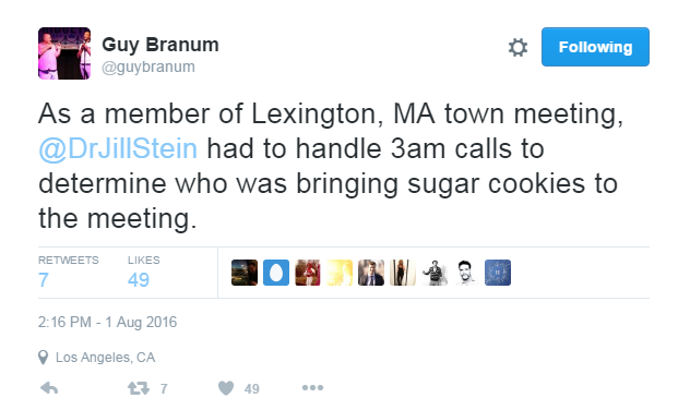 Follow  Guy Branum  on Twitter for more hilarious observations and pro-Hillary commentary