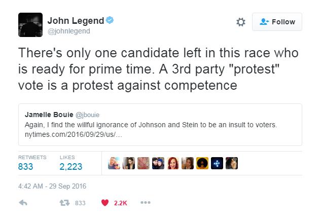 Thank you  John Legend .