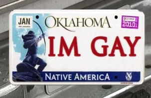 Close approximation of Senator McCoy's license plate.