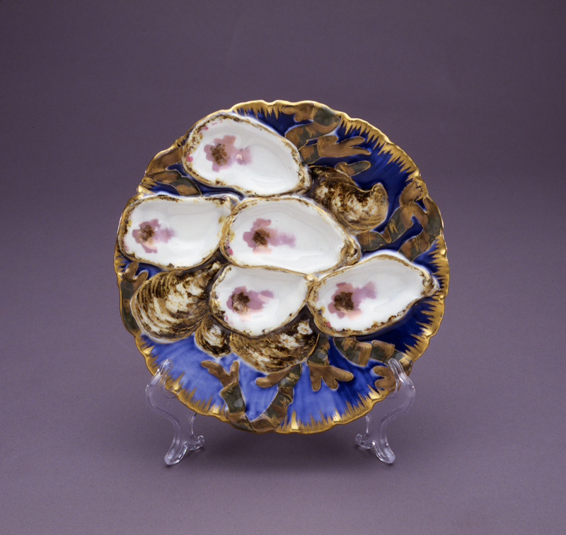 This is her oyster plate. Don't tell me that's not the absolute ugliest piece of china you've ever seen.