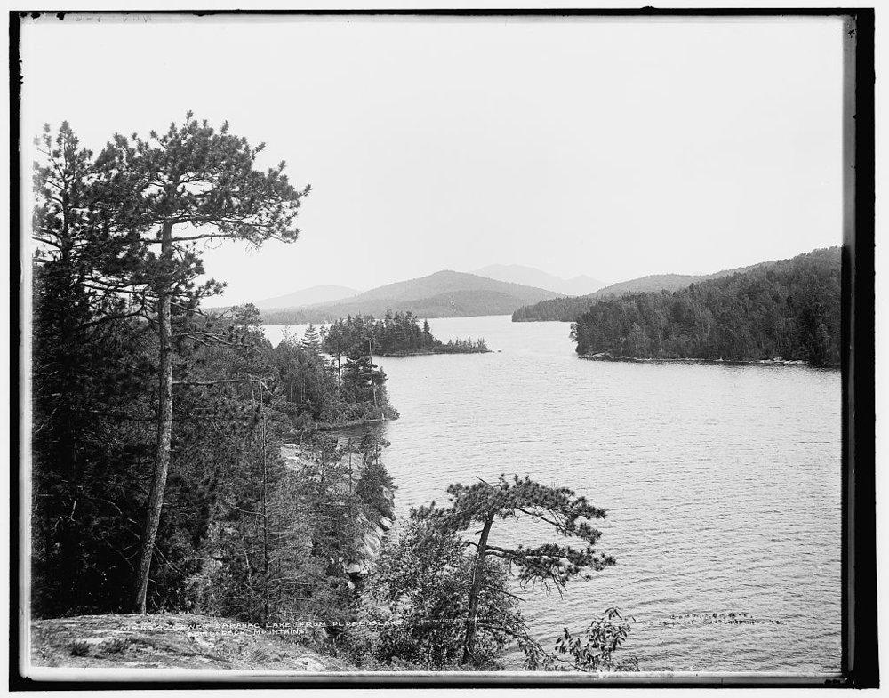 Lower Saranac Lake from Bluff Island, Adirondack Mountains.jpg