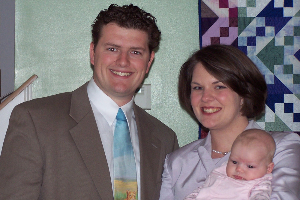 throwback picture to when we were an all-white family with only one child and to when I wore suits and pearls