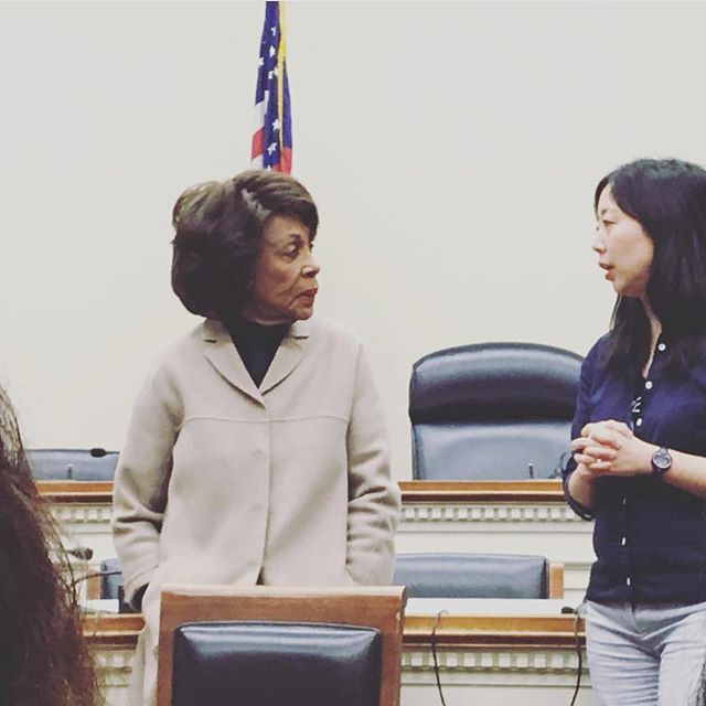 Representative Maxine Waters is everything... and she commented on disability rights during our group meeting too. 💋 #reclaimingmytime #rubywoopilgrimage