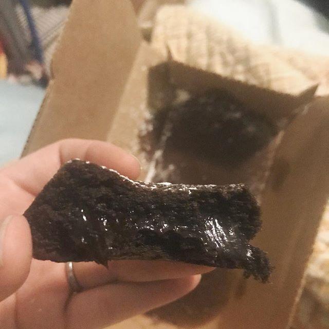 sometimes friends show love by sending pizza for the whole family and chocolate cake for you and your husband to have a post-bedtime chocolate cakes. my people are the best people.
