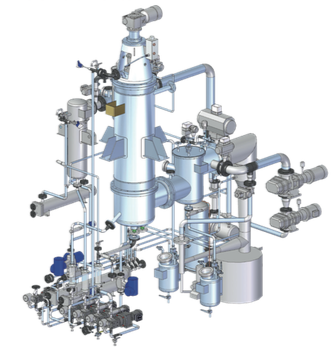 Impianto di distillazione molecolare