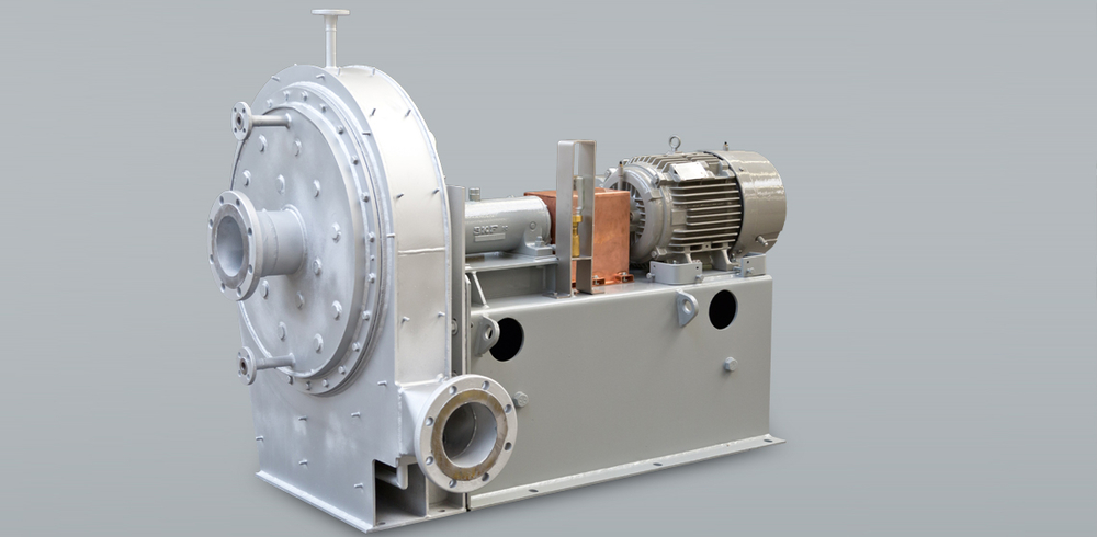 Ventilatore con mantello a vapore per il riciclaggio di acido solforico