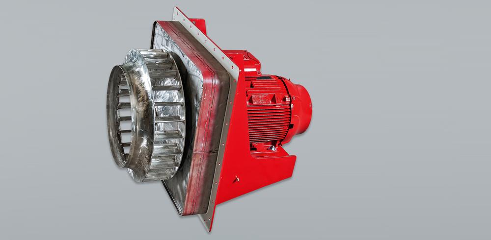 Ventilatore per il ricircolo di gas caldi
