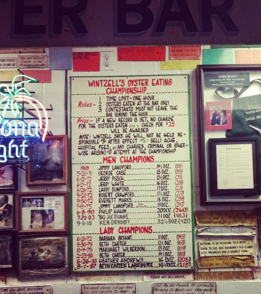 Wintzell's world famous oyster bar in Mobile, where fresh oysters from local farmers are just $9/dozen at happy hour.