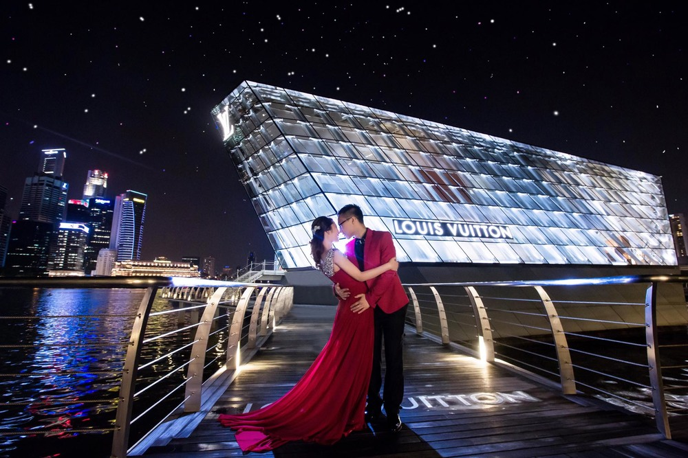 Singapore Wedding Photography Night at LV-MBS