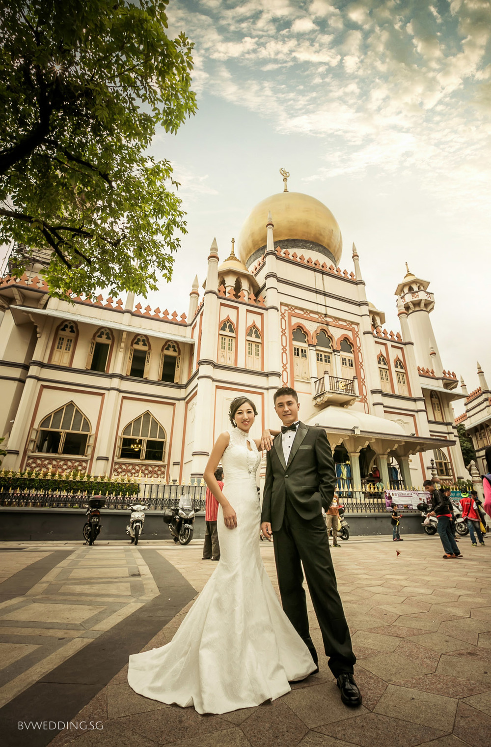 Pre-wedding photoshoot at Sultan Mosque
