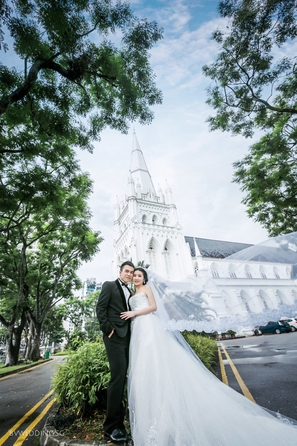 Pre-wedding Photoshoot at St.Andrew's Cathedral