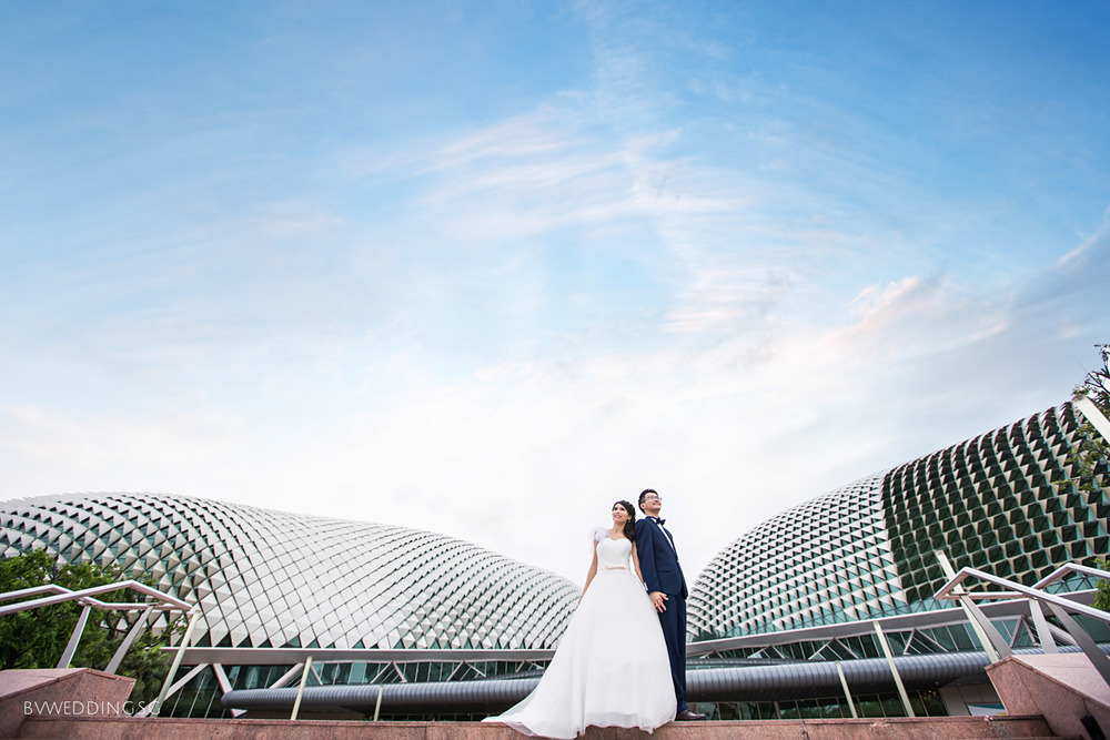 Pre-wedding photoshoot at esplanade