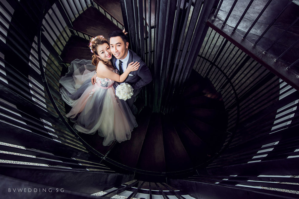 Pre wedding photography Singapore Hort Park