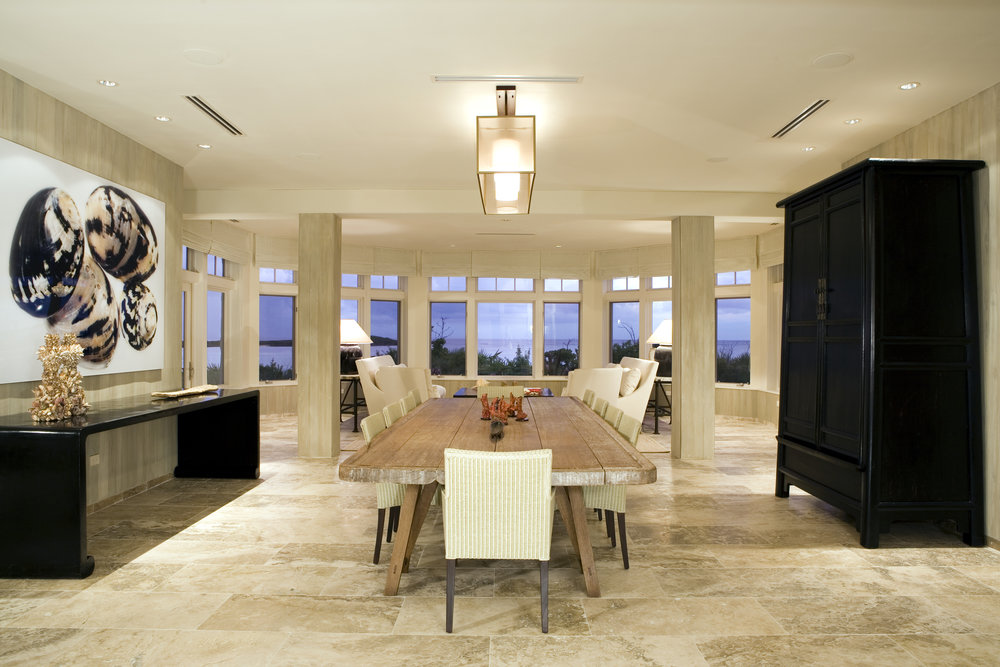 Beachfront Estate Dining Room by HDS Architecture