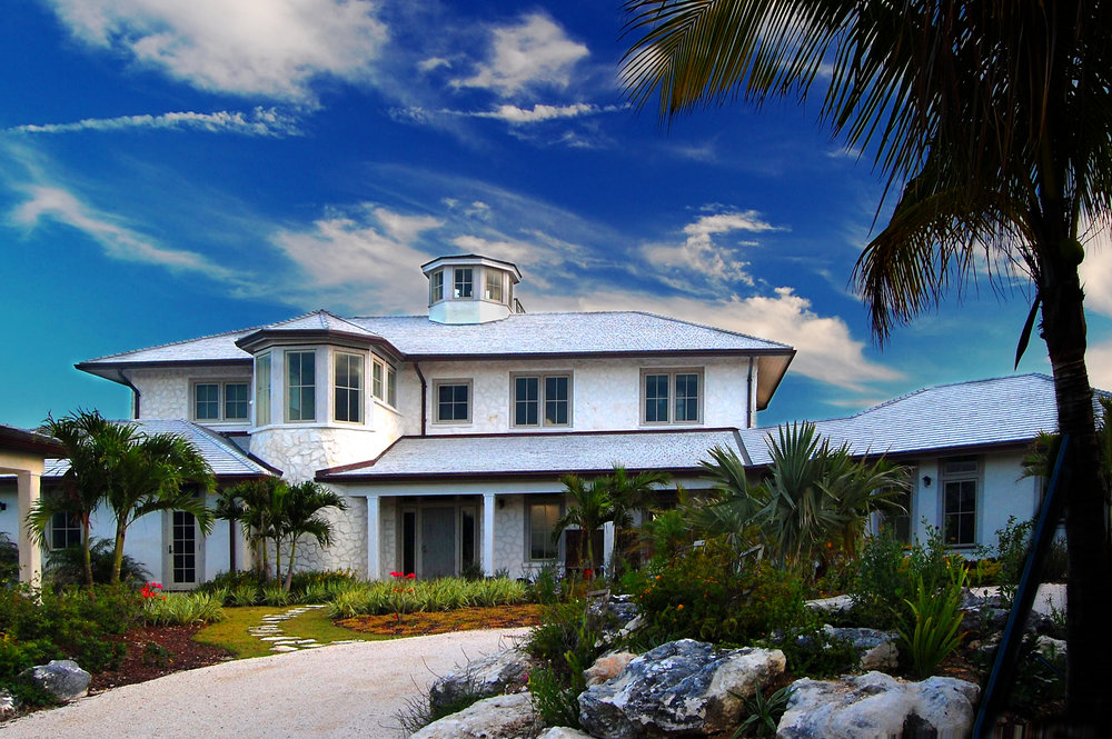 Beachfront Estate Bahamas Front by HDS Architecture