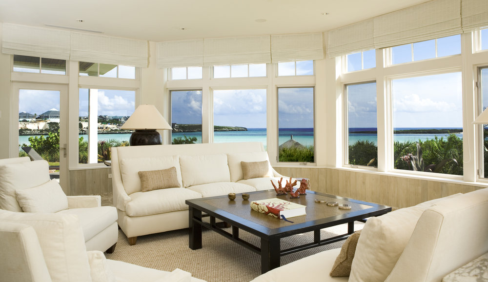 Beachfront Estate Bahamas Living Room by HDS Architecture