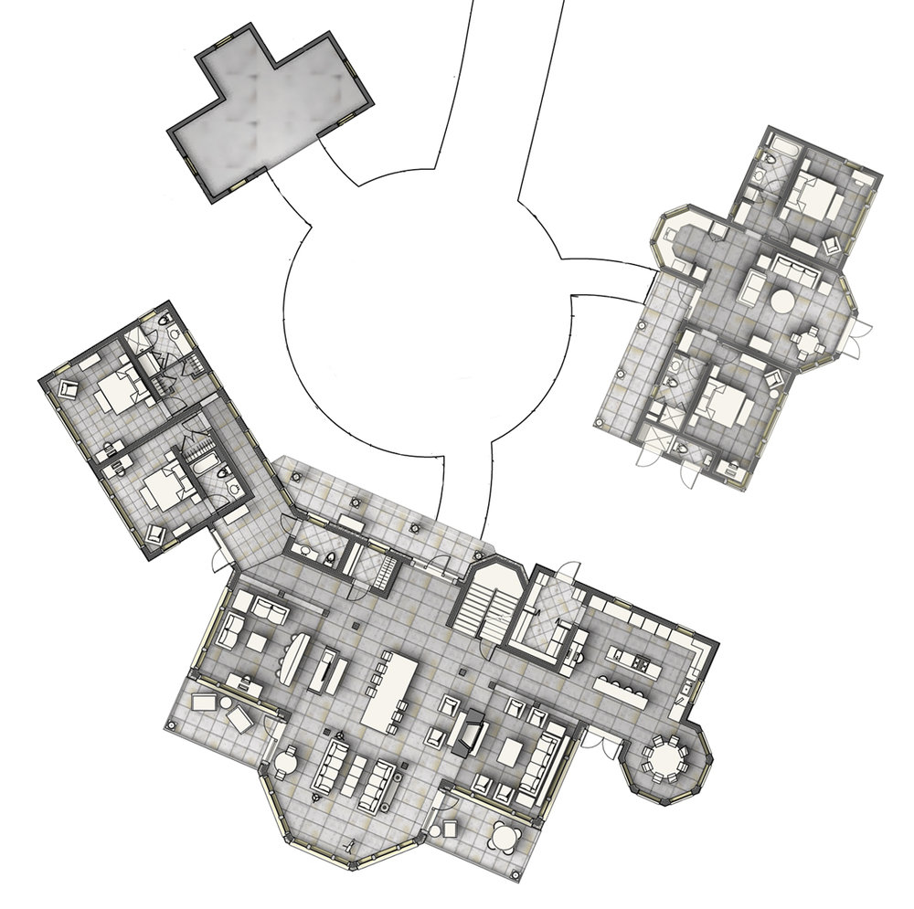 Beachfront Estate Bahamas Site Plan by HDS Architecture