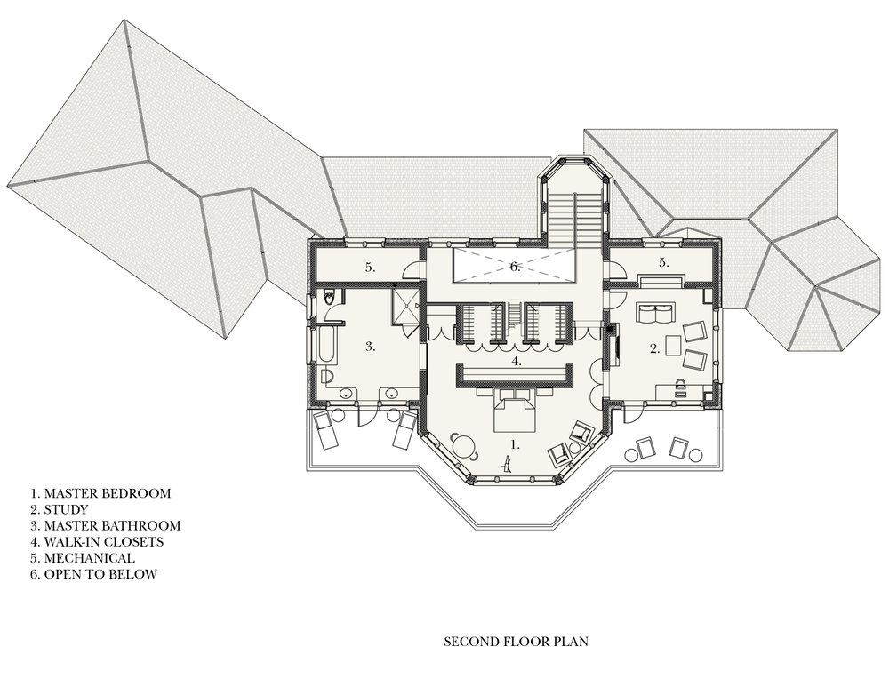Beachfront Estate Bahamas Second Floor Plan by HDS Architecture