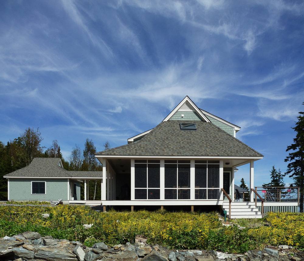 Coastal Residence Maine Side View by HDS Architecture