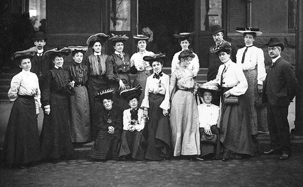 A historical snipet, and some reflection. One of the first women for women support project we know from history. This is an image of the Canadian Women's Press Club that was formed on a Canadian Pacific Railway car carrying 16 women to cover the St. Louis World's Fair in 1904. Eight women were francophone, and eight were anglophone. The Press Club served as a powerful vehicle for female journalists in that era — women who did not have the right to vote, who could not hold political office, who were rarely educated beyond high school and for whom marriage and motherhood were deemed the proper path in life.  Young journalists in Canada still feel they need the club. In many parts of the world women journalists are looking to hang on to each other.