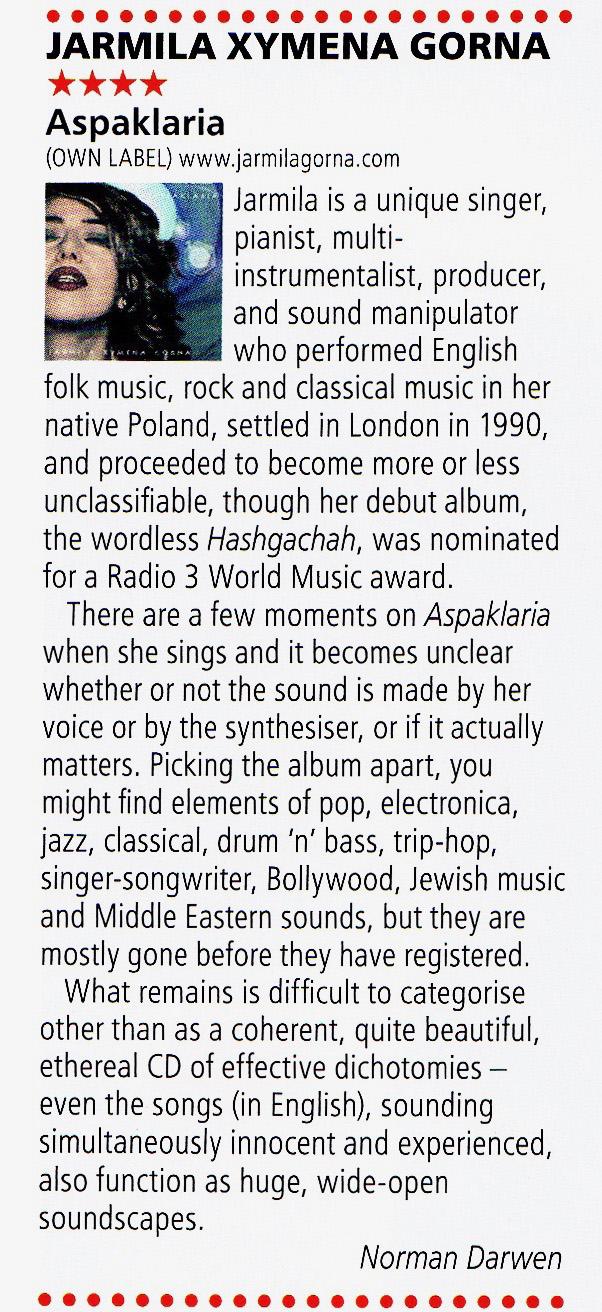 RnR Magazine, January 2019, World Reviews