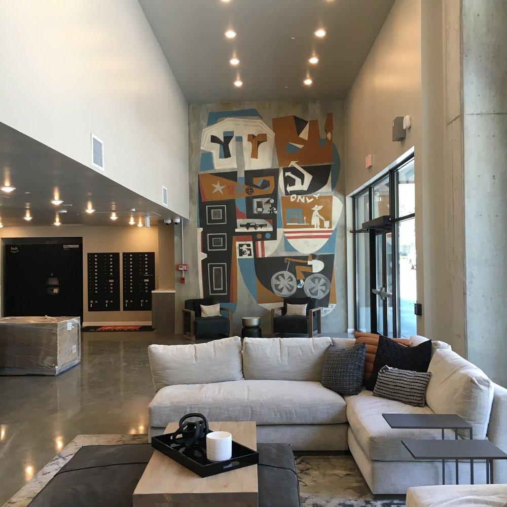 St. Regis Properties  - Lobby Mural in Oakland