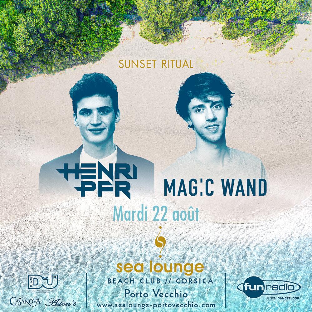 Henry PFR et Mag:c Wand Sea Lounge Porto Vecchio