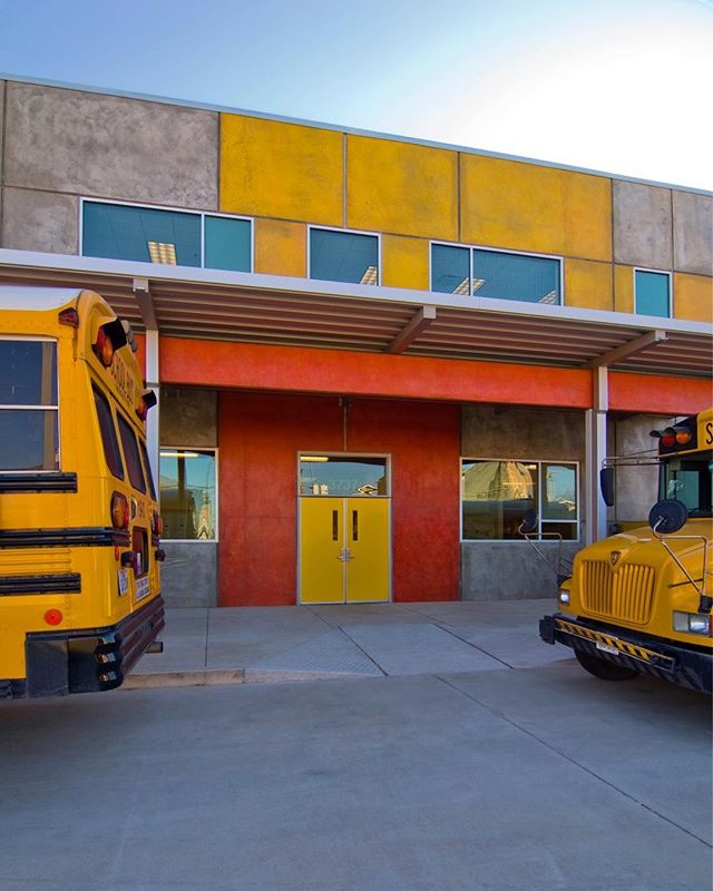 The Avondale House is a 33,000 s.f. school for children with autism. Colorful concrete stains add a sense of playfulness for this active learning environment! —————————————————— #cba #cbarch #houstonarchitecture #texasarchitect #texasarchitecture #designmatters #design