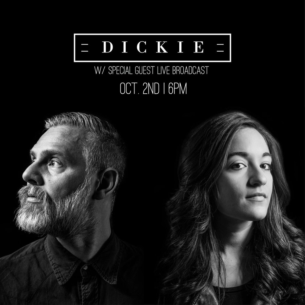 """""""DICKIE is the exploration of subtle symphonies over creative prose, indie popped-out melodies, under innovative storytelling and original grooves. Veteran tunesmith Dick Prall has taken his wares and shared them with violinist Kristina Priceman to create a collection of dark, gorgeous, and oft-times moony sing-alongs that pins you to its finely tailored lapel and keeps you fastened there gladly throughout its ten-song entirety. The self-titled record comes in like a bellowing newborn,but settles into a pace of dynamic ebb and flow as it ages and ends with a Roy Orbison-styled recount of hopeful love that never bleeds into the saccharine."""""""