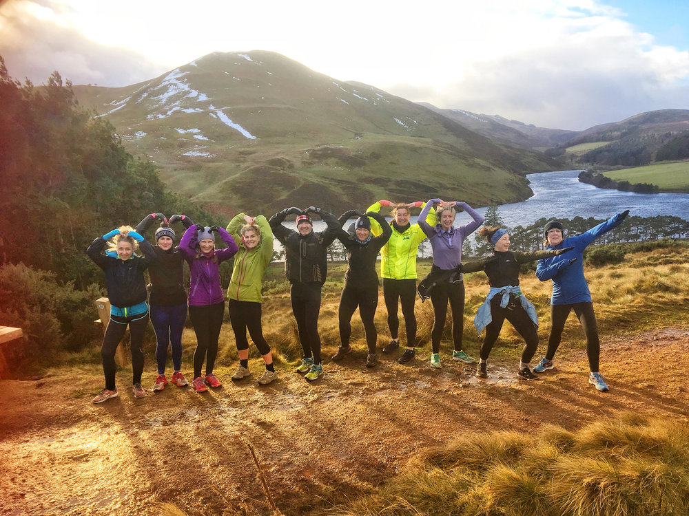 It's no wonder they are grinning from ear to ear - they are on our Pentland Taster Running Tour