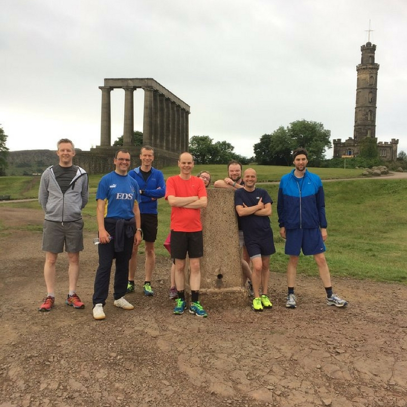 Delegates enjoying a running tour before their conference