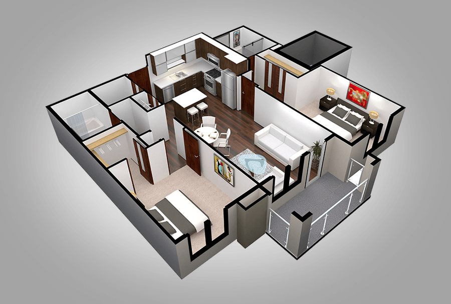 Floor Plan B1/B2