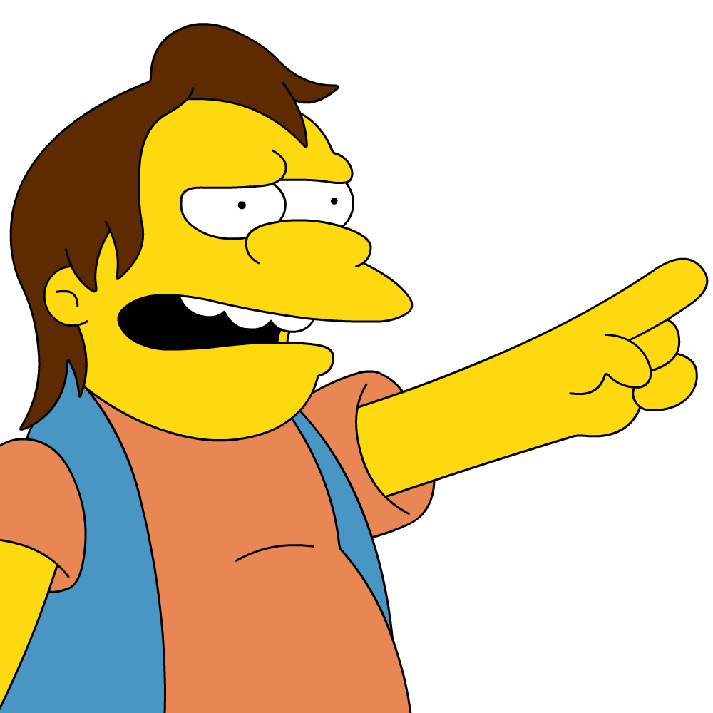 There's only one lovable bully and that's Nelson Muntz. Don't be a bully! (Image: The Simpsons)