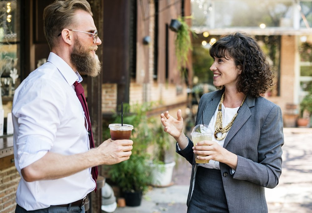 You'd be surprised how far you'll get by talking to someone without giving them the hard sales pitch. Coffee drinking, hipster beard guy gets it!