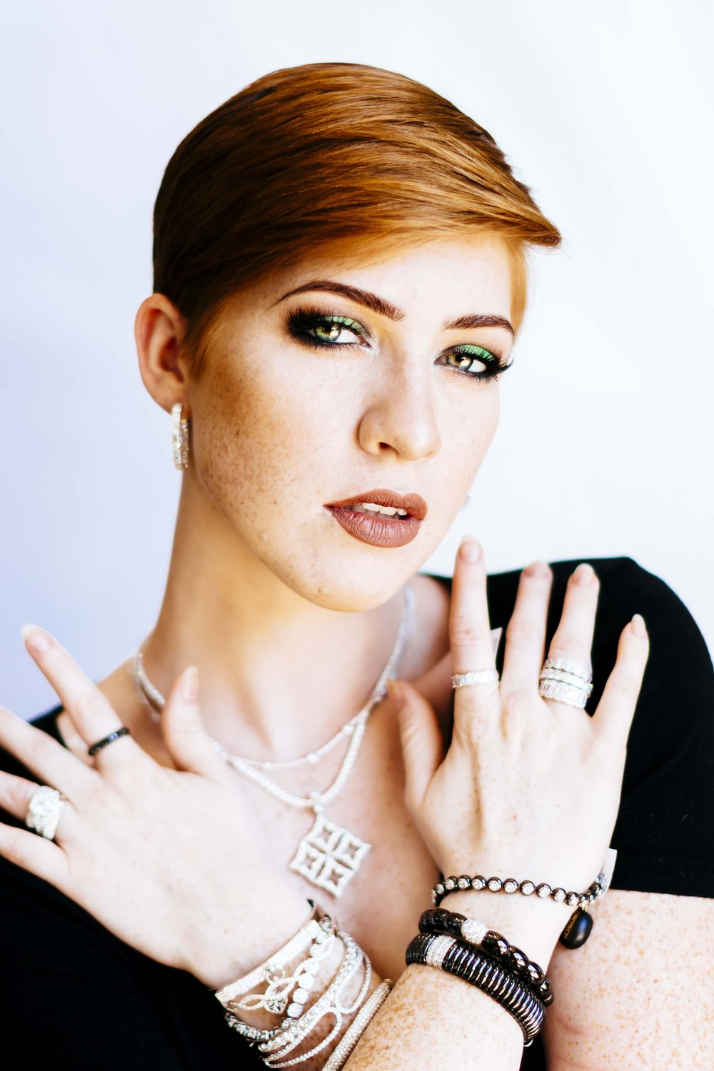 Model: Sommer Camp - Make-up provided by Lanae Crum - Jewelry provided by Randy Cooper's Fine Jewelry