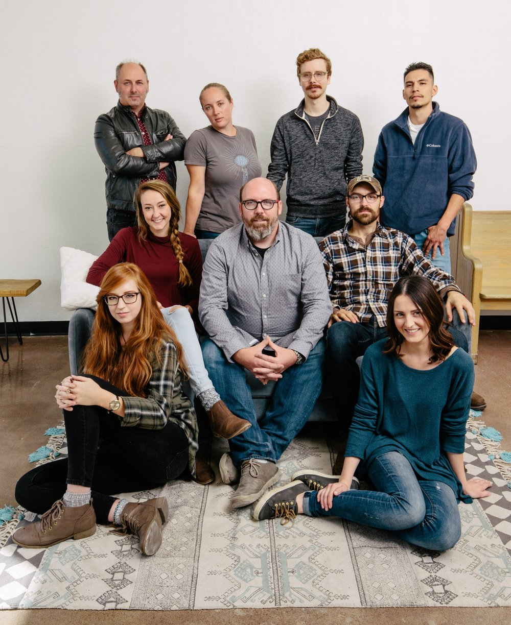 Andrew Gough often contributes Reverie's success to his talented and dedicated staff. Reverie is, front row, from left: Rebecca Prochaska, Kaitlyn Wall. Middle: Katie Maher, Andrew Gough, Chris Wells. Back: Jason Hendry, Stephanie Hand, Tom Murillo, Oscar Pineda.
