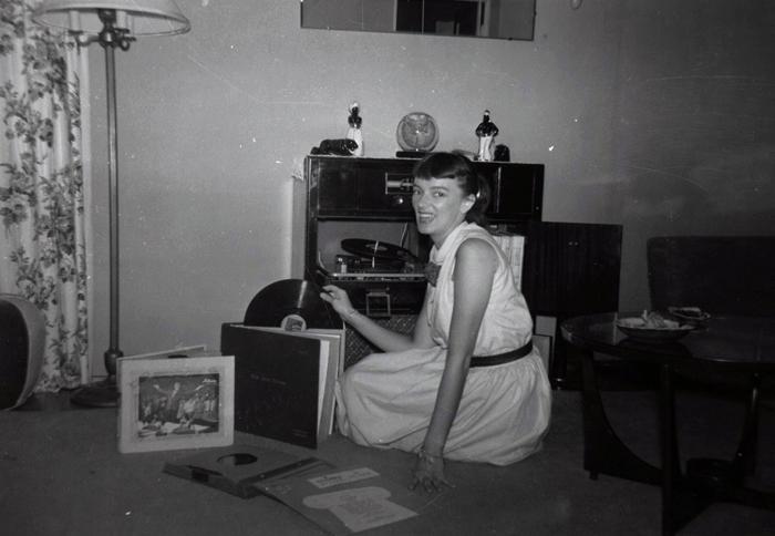 my mom, circa 1950