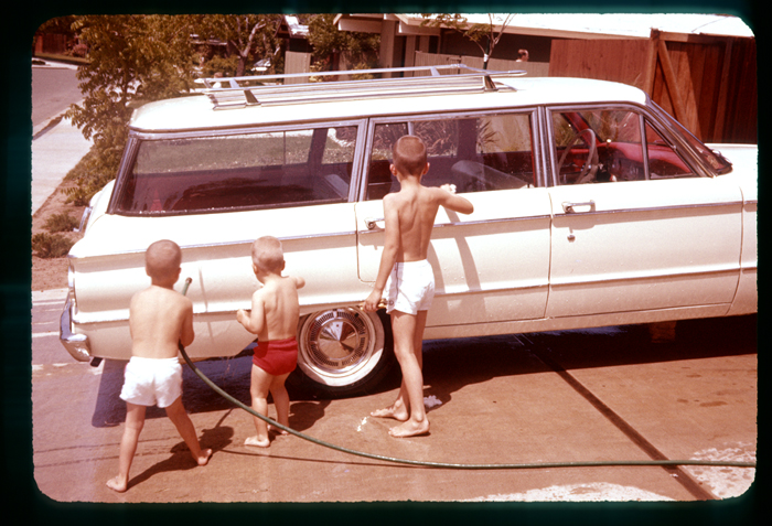 Me, Mike, Rob-washing car-1962_adj01-sm.jpg