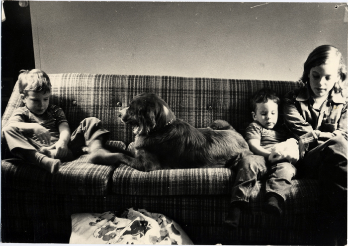 Davis-Me, Matthew, David-on couch with Chelsea & guinea pigs-1974_adj01-sm.jpg