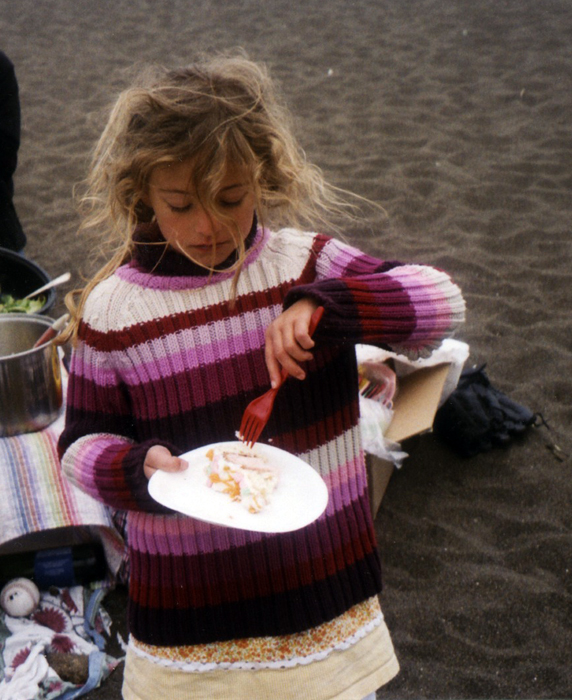 isabelle's birthday, rodeo beach. 2004