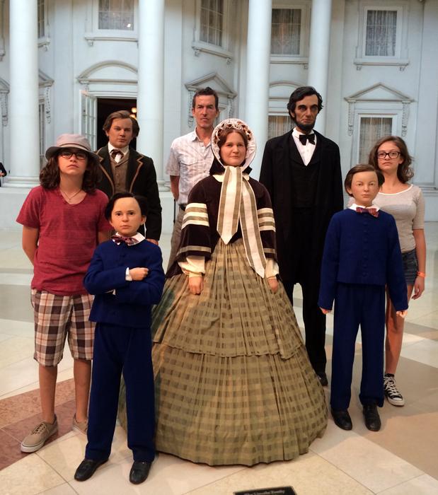 Route 66-Me, Hugo, Isabelle & Abraham Lincoln's family-sm.jpg