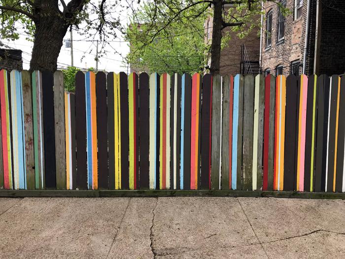 fence in pilsen neighborhood of chicago. 2018