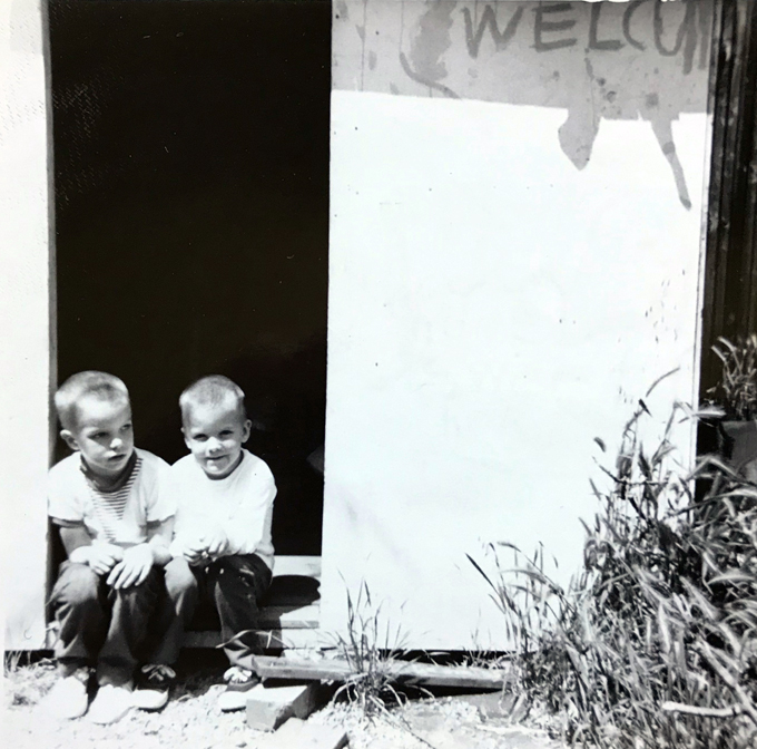 Me and Mike-clubhouse doorway-cica1964_adj01-sm.jpg