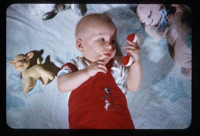 Baby-red overalls-on blanket_adj01-sm.jpg