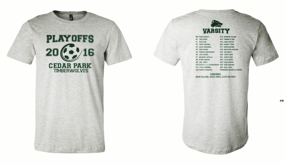 2016 Playoff tee shirts