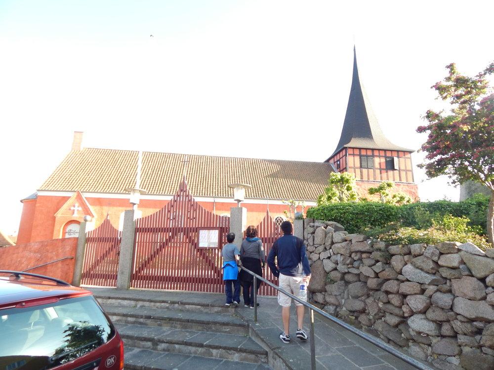 Visiting a church in Denmark