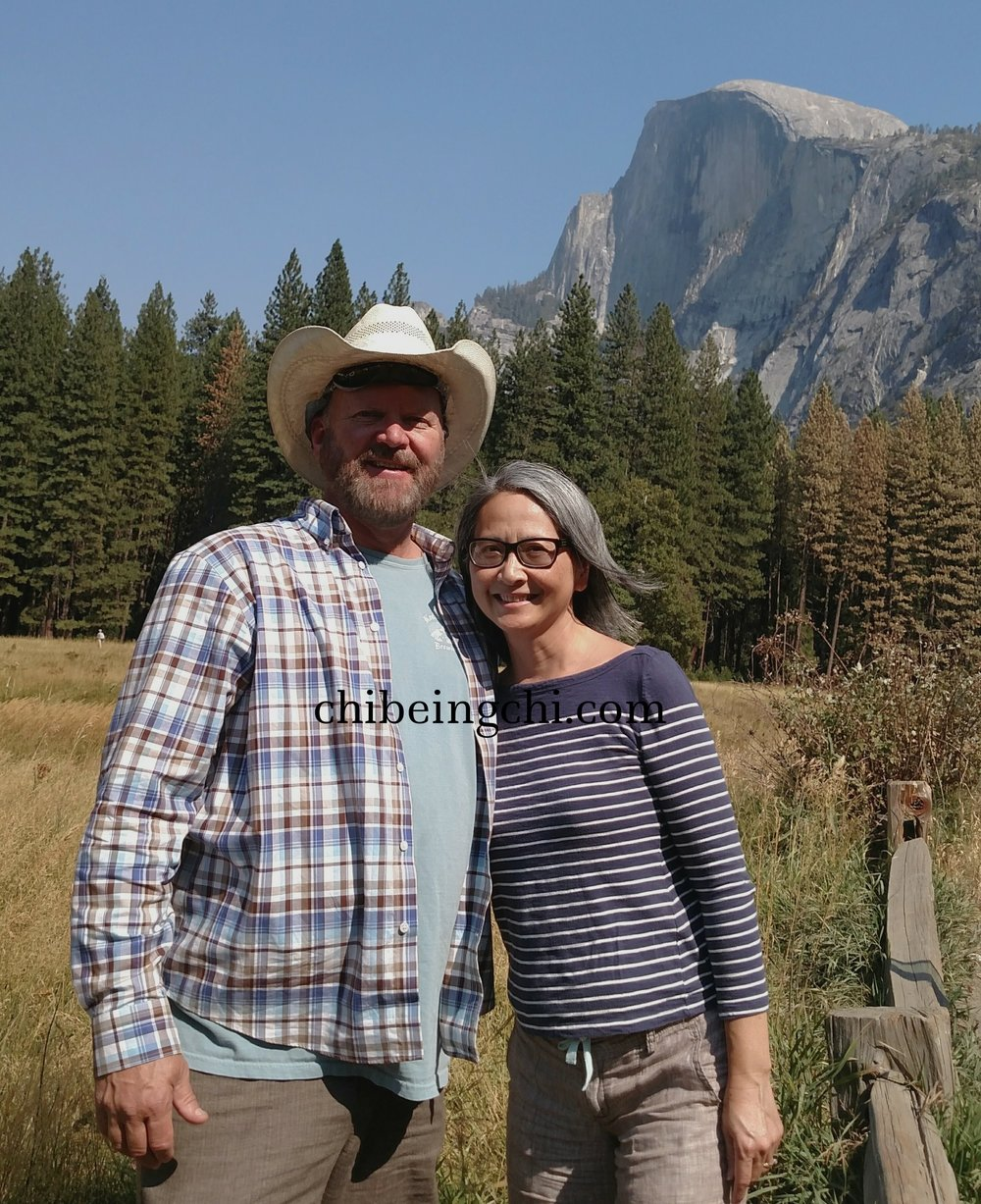 Husband and I at the Half Dome Village area