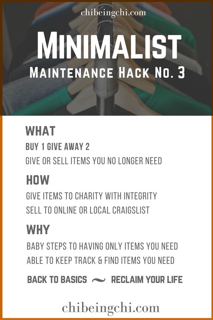 Minimalist Maintenance Tip 3