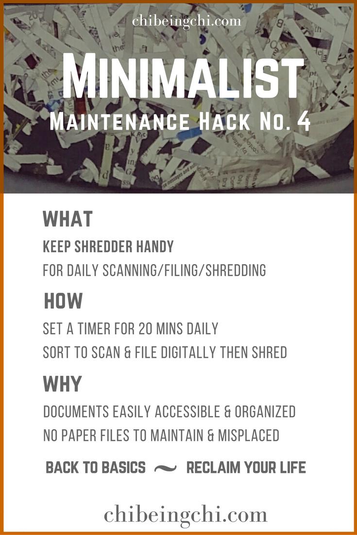Minimalist Maintenance Tip 4