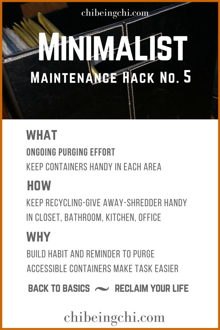 Minimalist Maintenance Tip 5